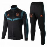 2019-2020 Ajax Jacket + Pants Training Suit High Neck Black