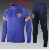 Kids Barcelona Jacket + Pants Training Suit Blue 2020/21