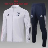 Kids Manchester United Jacket + Pants Training Suit White 2020/21