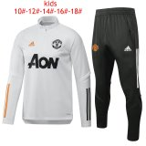 Kids Manchester United Training Suit White 2020/21