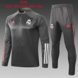 Kids Real Madrid Training Suit Grey 2020/21