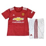 Manchester United Home Soccer Jersey Kit Kids 2020/21
