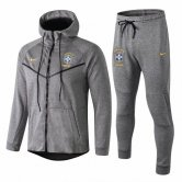 2019 Brazil Tech Fleece Hoodie Jacket + Pants Training Suit Grey