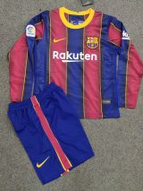 Barcelona Home Soccer Jerseys Kit Kids Long Sleeve 2020/21