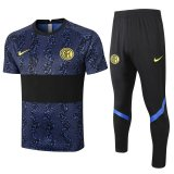 Inter Milan Short Training Suit Blue +Long Pants Black 2020/21