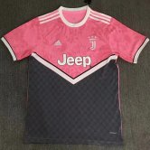 Juventus Pink and Black Training Soccer Jersey 2020/21