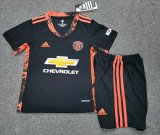 Manchester United Goalkeeper Black Soccer Kit Kids 2020/21