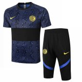 Inter Milan Short Training Suit Blue - Black 2020/21