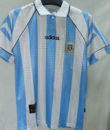 Argentina Home Retro Soccer Jerseys Mens 1996/97