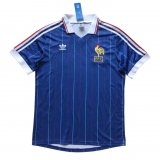 France Retro Home Soccer Jerseys Mens 1982
