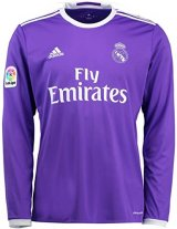 Real Madrid Retro Away Long Sleeve Jersey Mens 2016/17