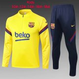 Kids Barcelona Training Suit Yellow 2020/21