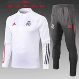Kids Real Madrid Training Suit White 2020/21