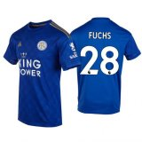 2019-2020 Leicester City Christian Fuchs #28 Home Football Shirt