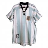 Argentina Home Retro Soccer Jerseys Mens 1998