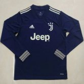 Juventus Away Long Sleeve Soccer Jerseys Mens 2020/21