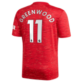 GREEN WOOD #11 Manchester United Home Football Shirt 2020/21 (League Font)