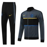 2020/21 Inter Milan Grey Jacket Tracksuit