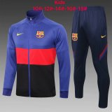 Kids Barcelona Jacket + Pants Training Suit Blue - Red 2020/21