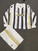 Juventus Home Soccer Jerseys Kit Kids Long Sleeve 2020/21