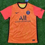PSG Orange Goalie Soccer Jerseys Mens 2020/21