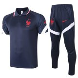 France Polo Tracksuit Navy 2020/21