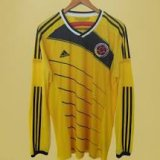 Colombia Long Sleeve Soccer Jerseys Mens 2014