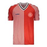 Denmark Retro Home Soccer Jerseys Mens 1986