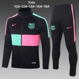 Kids Barcelona Jacket + Pants Training Suit Black 2020/21