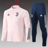 Kids Juventus Jacket + Pants Training Suit Pink 2020/21