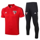 Sao Paulo FC Polo Tracksuit Red 2020/21