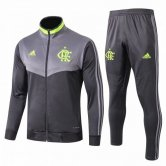 2019-2020 Flamengo Jacket + Pants Training Suit Light Grey