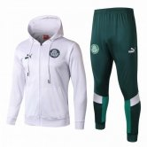 2019-2020 Palmeiras Hoodie Jacket + Pants Training Suit White