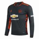 Manchester United Goalkeeper Black Soccer Jersey Long Sleeve 2020/21