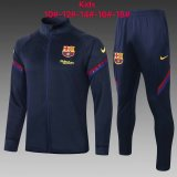 Kids Barcelona Jacket + Pants Training Suit Navy 2020/21