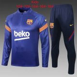 Kids Barcelona Training Suit Blue 2020/21