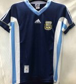 Argentina Away Retro Jersey Mens 1998