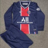 PSG Home Kids Long Sleeve Football Kit 20/21