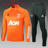 Kids Manchester United Training Suit Orange 2020/21