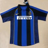 Inter Milan Retro Home Jersey Mens 2001-2002