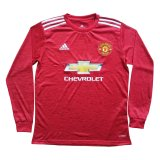 Manchester United Home Soccer Jersey Long Sleeve 2020/21