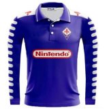 ACF Fiorentina Retro Home Long Sleeve Soccer Jerseys Mens 1998-1999