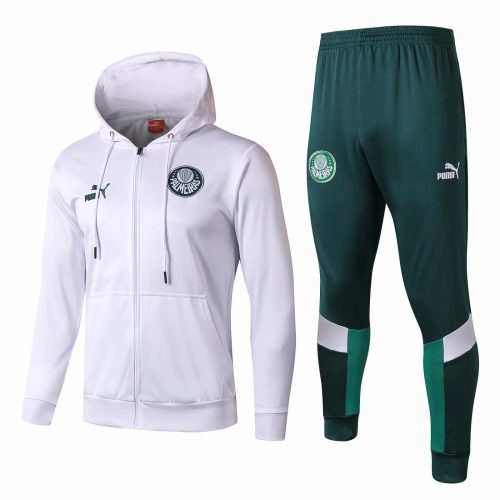 Palmeiras Hoodie Jacket + Pants Training Suit White 2019/20