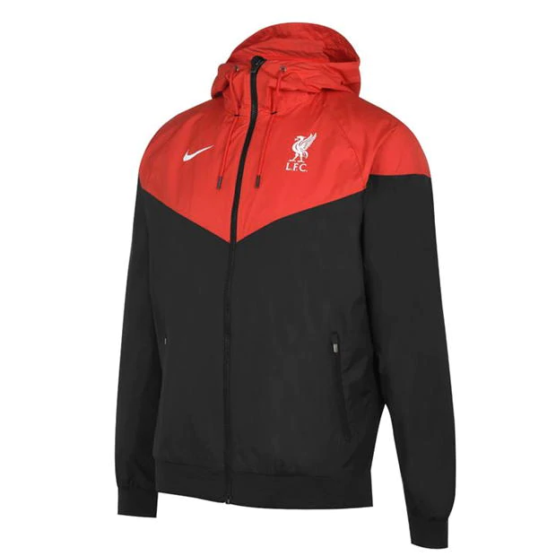 Liverpool All Weather Windrunner Jacket Red - Black 2020/21