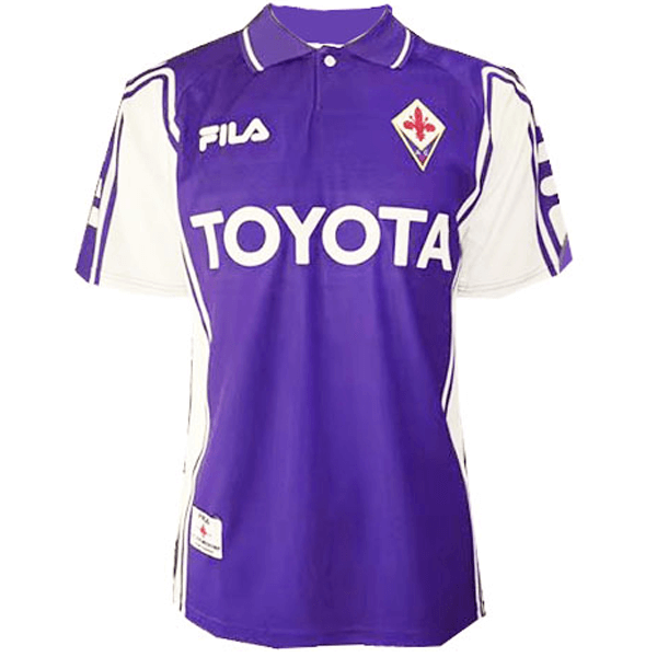 ACF Fiorentina Retro Home Soccer Jerseys Mens 1999-2000
